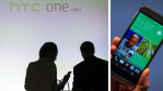 The HTC One M8 during its launch in New York