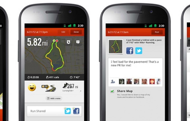 Nike+ Android App Featured
