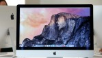 The new 27 inch iMac with 5K Retina display is displayed during an Apple special event on October 16, 2014 in Cupertino, California.
