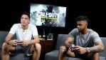 Pro Basketball Players D'Angelo Russell And Devin Booker Play 'Call Of Duty: Infinite Warfare Continuum DLC' At Infinity Ward