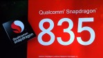 The Qualcomm Snapdragon 835 mobile processor is announced during a keynote address by Qualcomm Inc. CEO Steve Mollenkopf (not pictured) at CES 2017 at The Venetian Las Vegas on January 6, 2017.