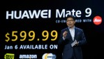 CEO of Huawei Consumer Business Group Richard Yu introduces the Huawei Mate 9 phone as he delivers a keynote address at CES 2017 at The Venetian Las Vegas on January 5, 2017 in Las Vegas, Nevada.